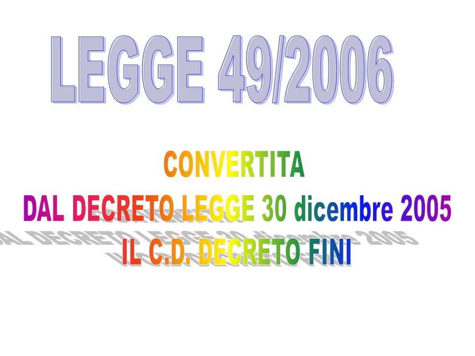 DAL DECRETO LEGGE 30 dicembre 2005