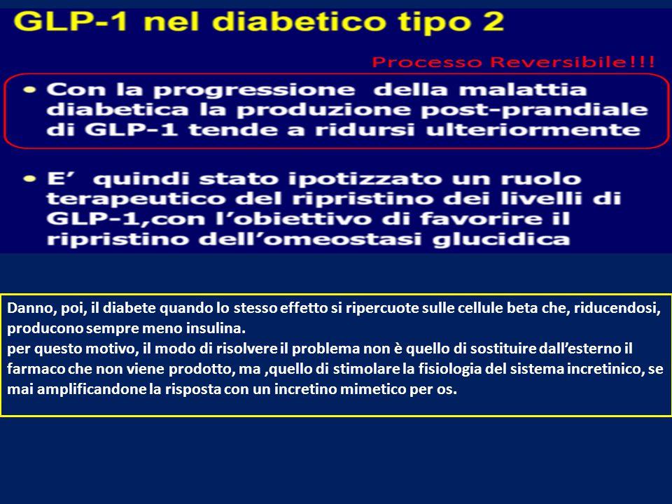 Danno, poi, il diabete quando lo stesso effetto si ripercuote sulle cellule beta che, riducendosi, producono sempre meno insulina.