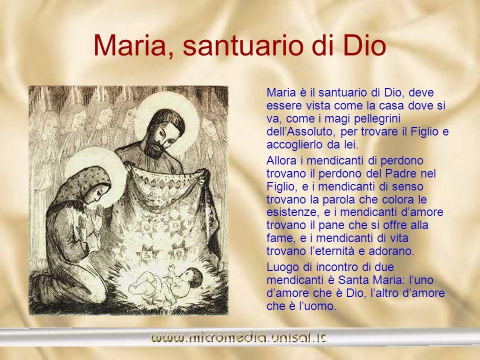 Maria, santuario di Dio