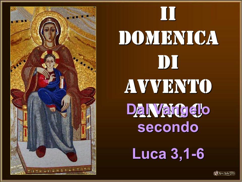 II DOMENICA DI AVVENTO ANNO C