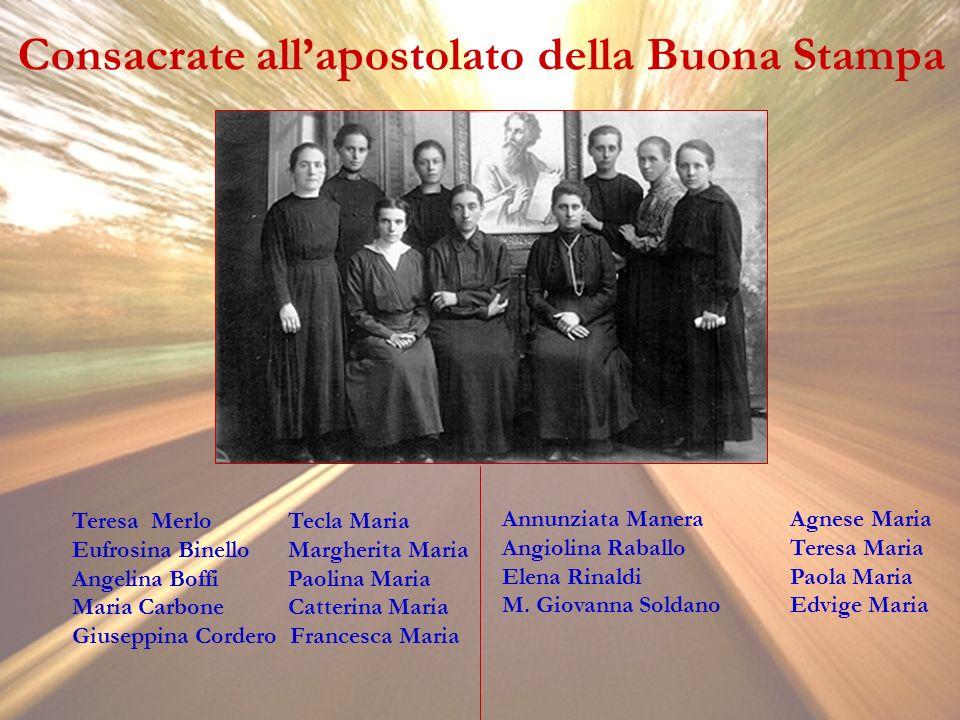 Consacrate all'apostolato della Buona Stampa