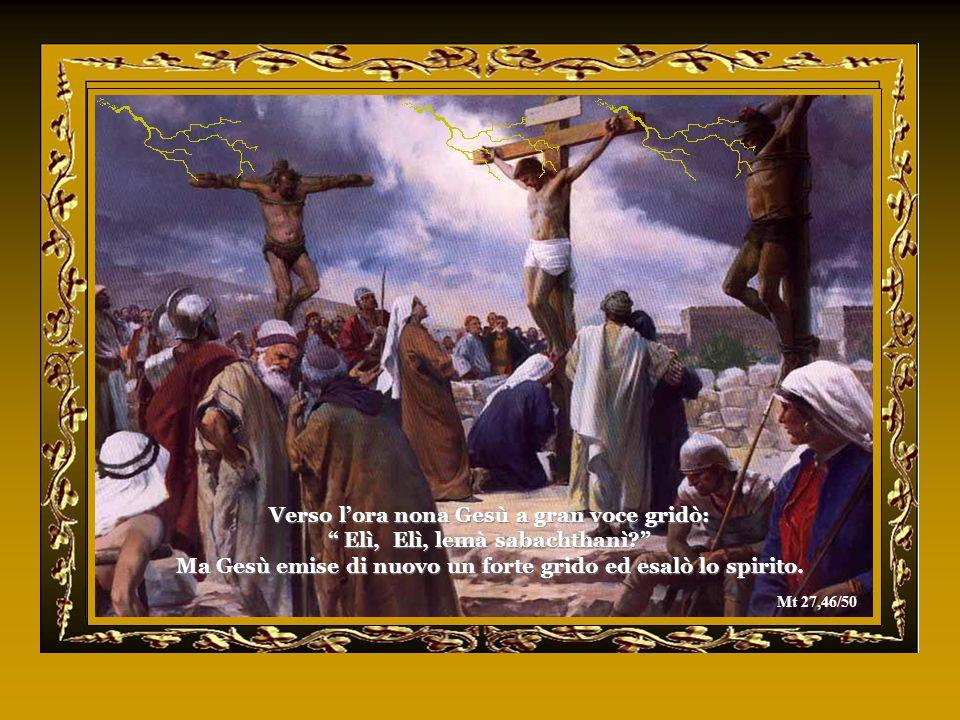 Ma Gesù emise di nuovo un forte grido ed esalò lo spirito.