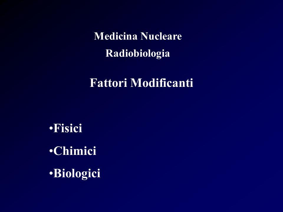 Fattori Modificanti Fisici Chimici Biologici Medicina Nucleare