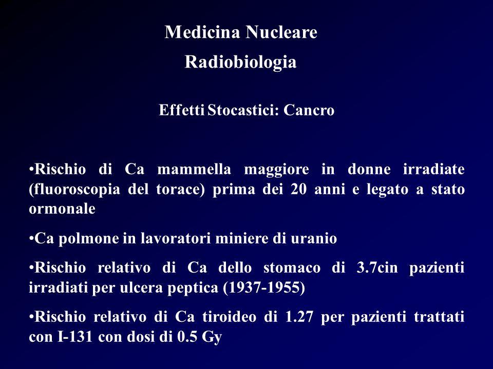 Effetti Stocastici: Cancro