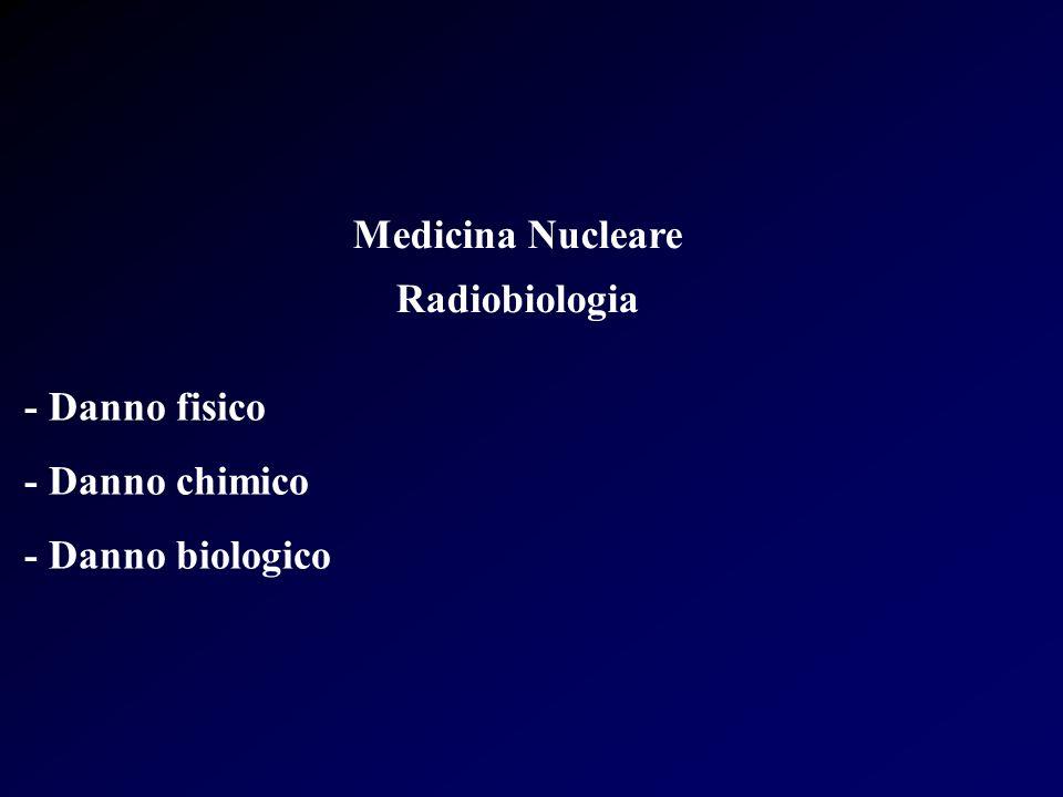 Medicina Nucleare Radiobiologia - Danno fisico - Danno chimico - Danno biologico