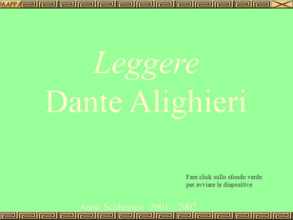 Leggere Dante Alighieri Anno Scolastico 2001 - 2002
