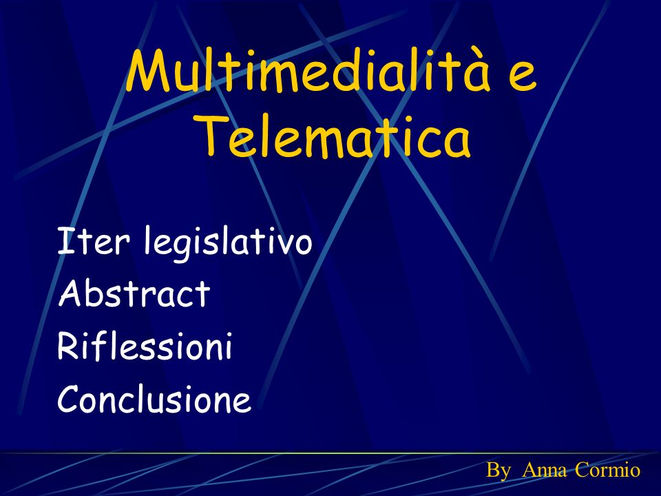 Multimedialità e Telematica