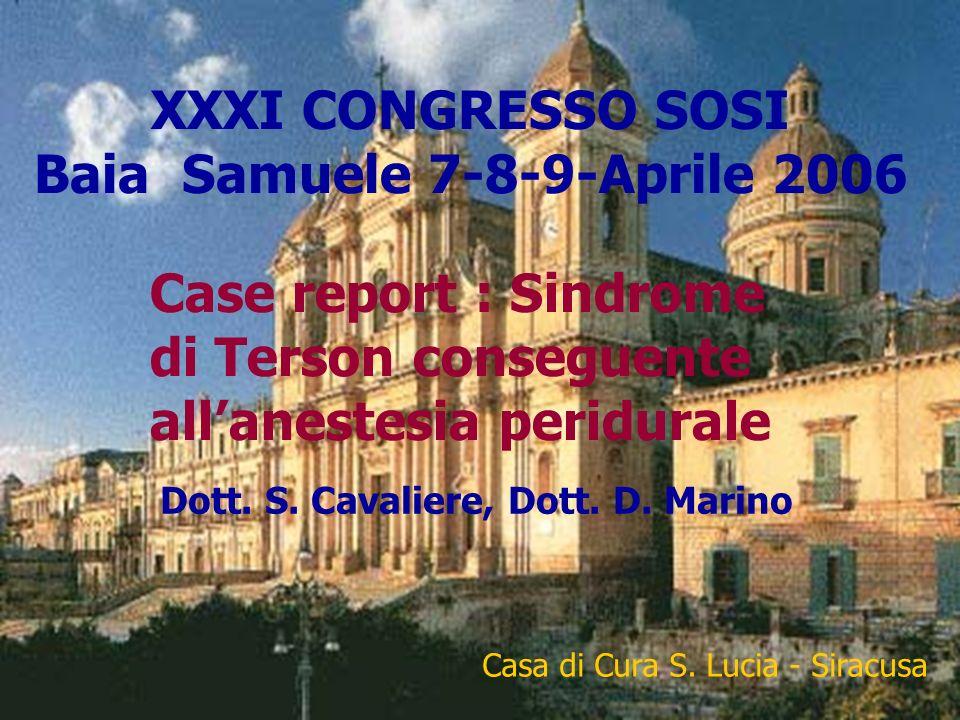 XXXI CONGRESSO SOSI Baia Samuele 7-8-9-Aprile 2006