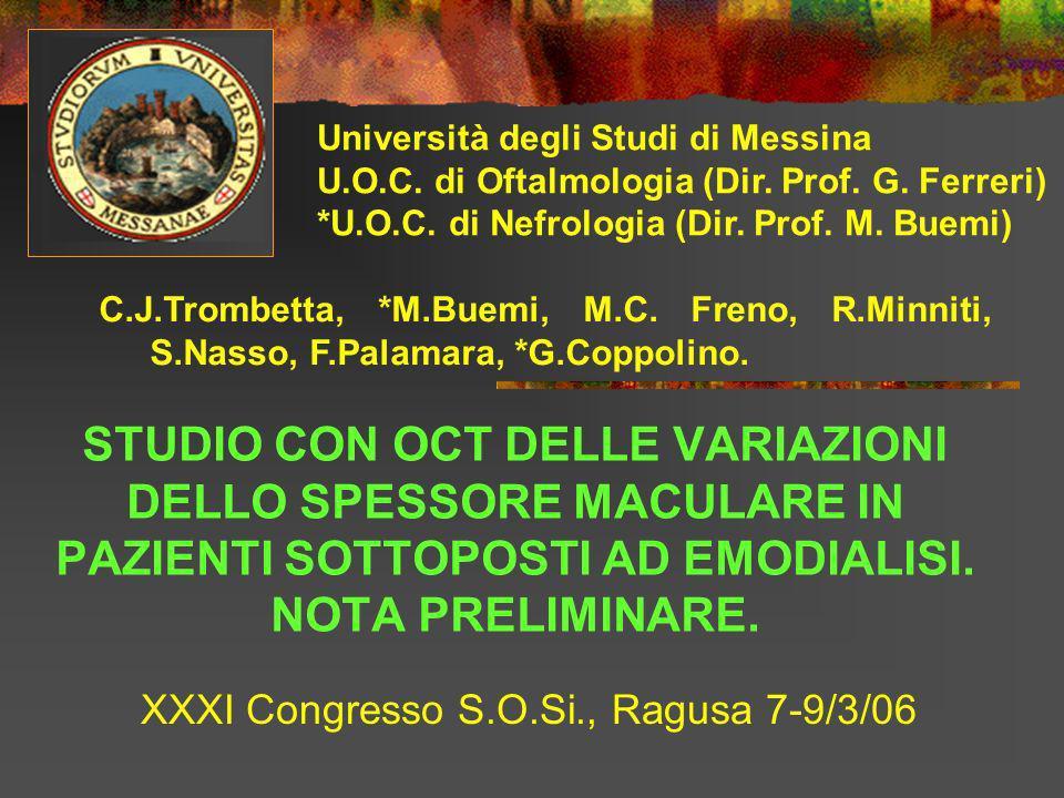 XXXI Congresso S.O.Si., Ragusa 7-9/3/06