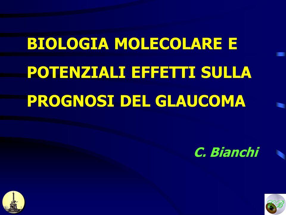 BIOLOGIA MOLECOLARE E POTENZIALI EFFETTI SULLA PROGNOSI DEL GLAUCOMA