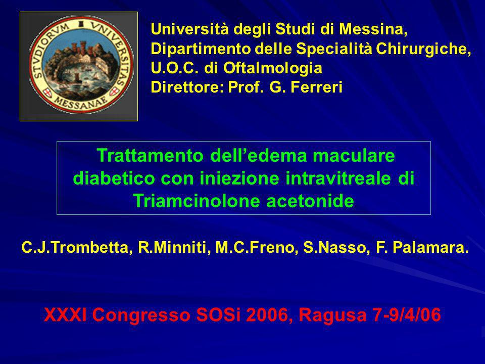 XXXI Congresso SOSi 2006, Ragusa 7-9/4/06