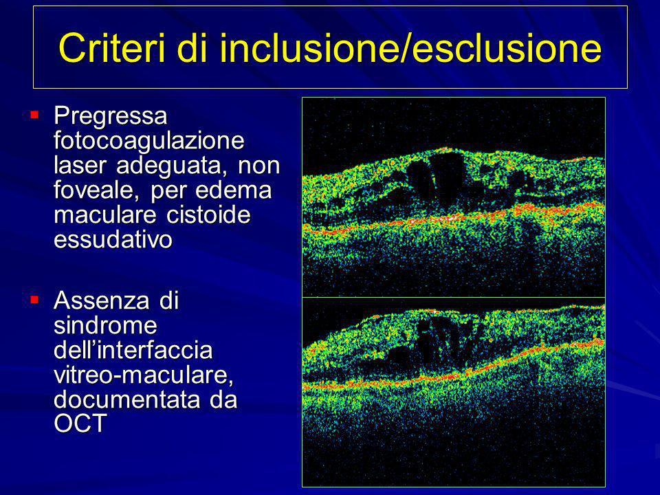 Criteri di inclusione/esclusione