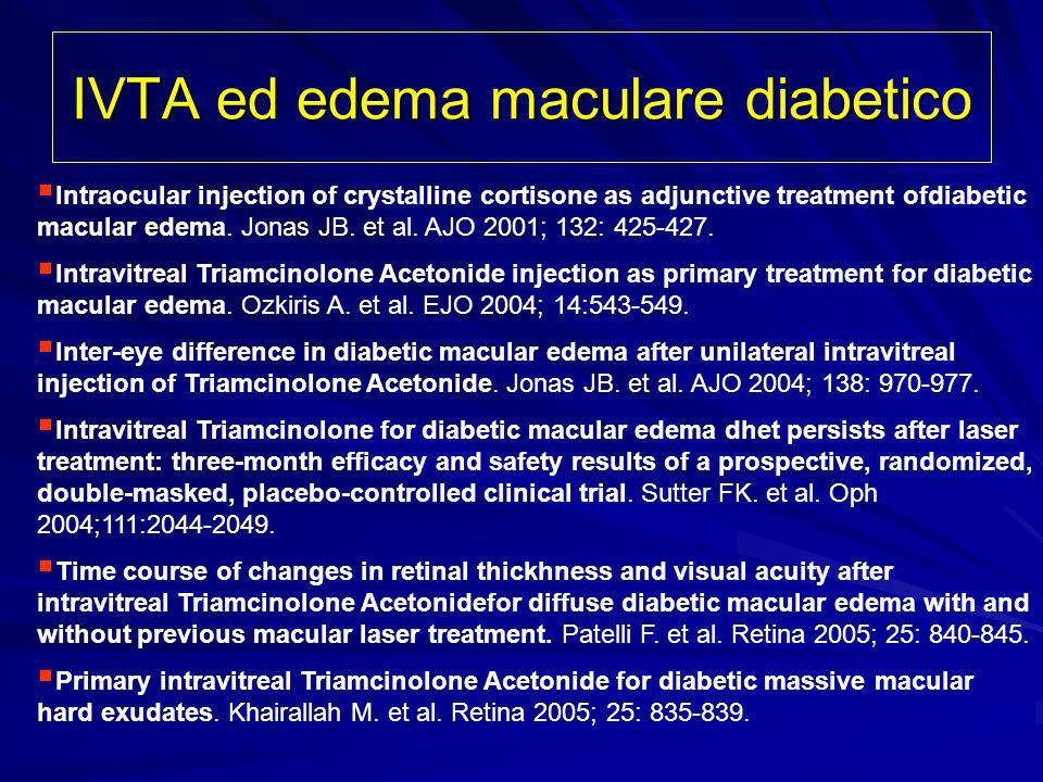 IVTA ed edema maculare diabetico