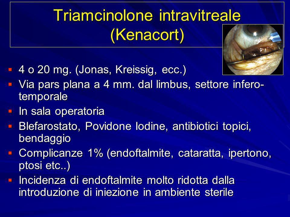 Triamcinolone intravitreale (Kenacort)