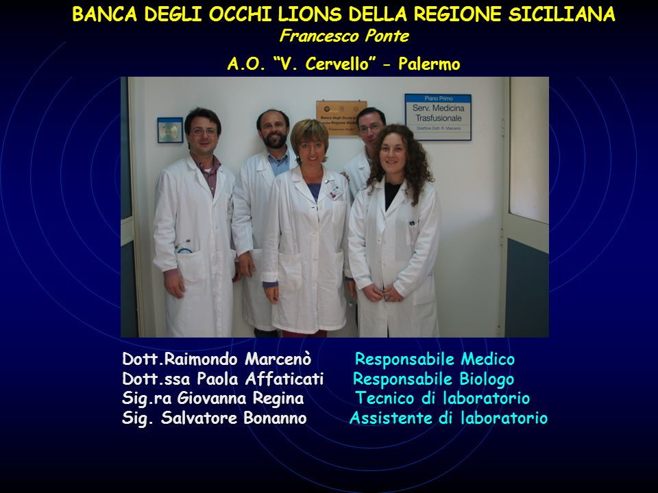 BANCA DEGLI OCCHI LIONS DELLA REGIONE SICILIANA