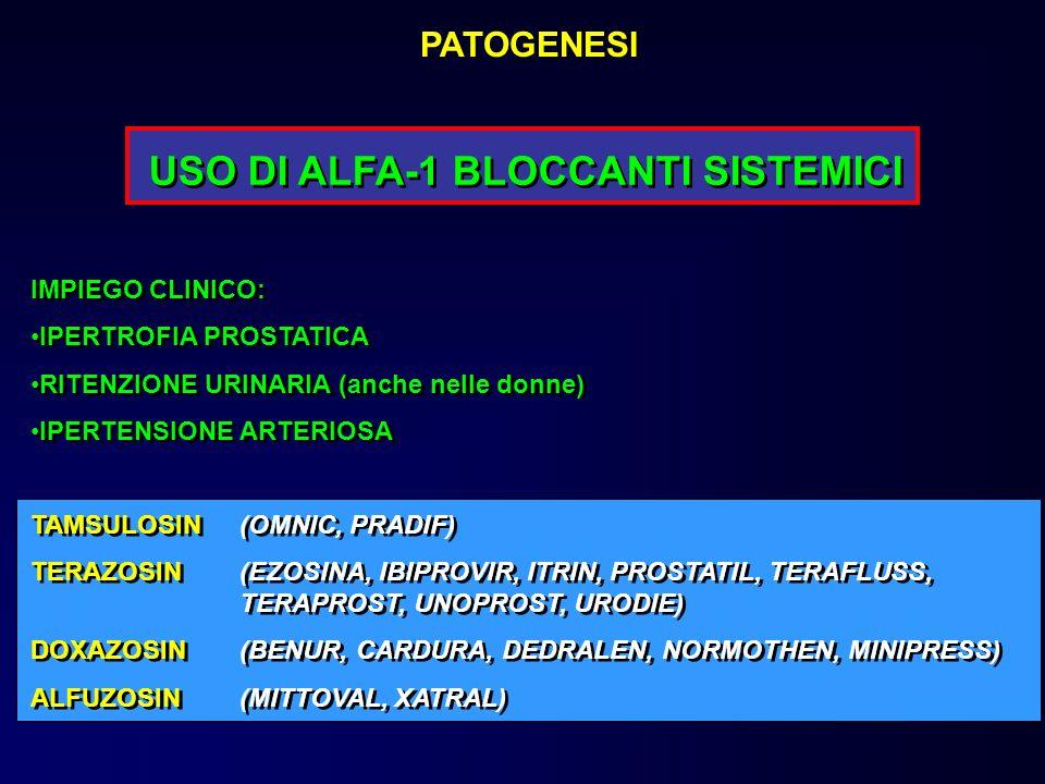 USO DI ALFA-1 BLOCCANTI SISTEMICI