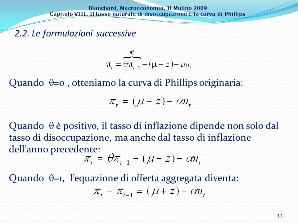 2.2. Le formulazioni successive