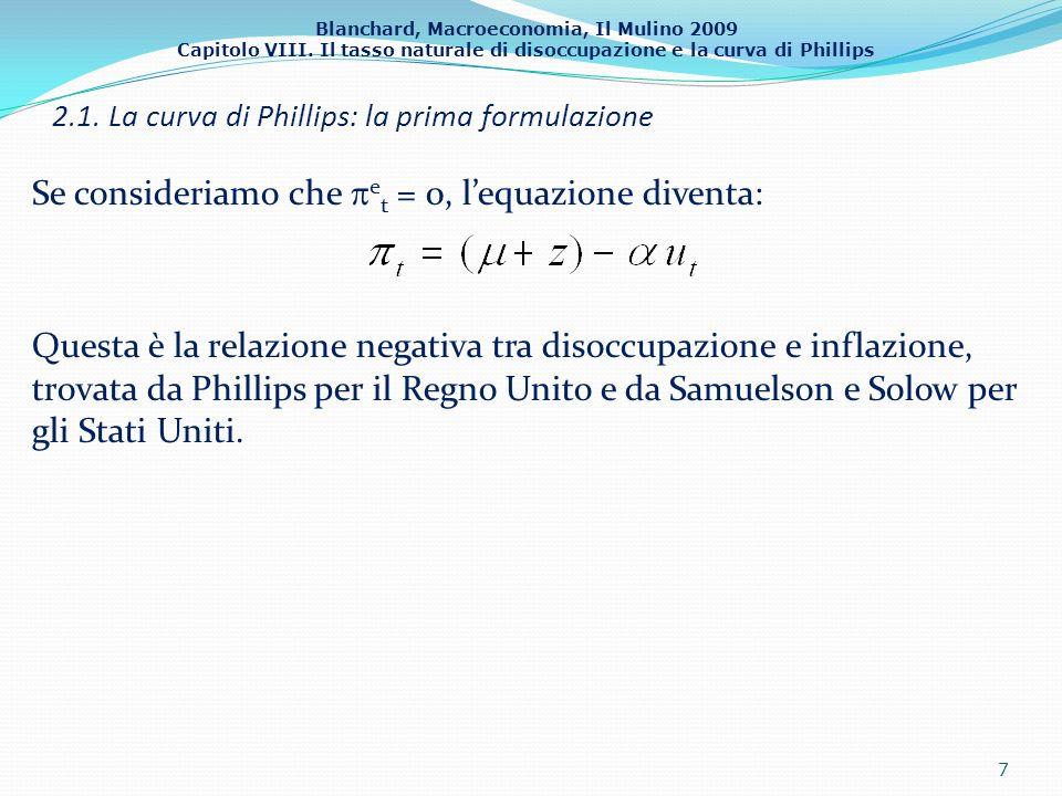 2.1. La curva di Phillips: la prima formulazione