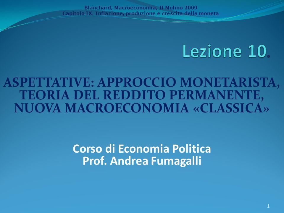 Corso di Economia Politica