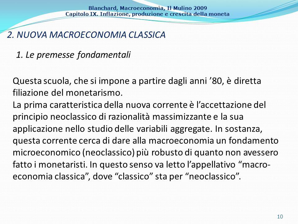 2. NUOVA MACROECONOMIA CLASSICA