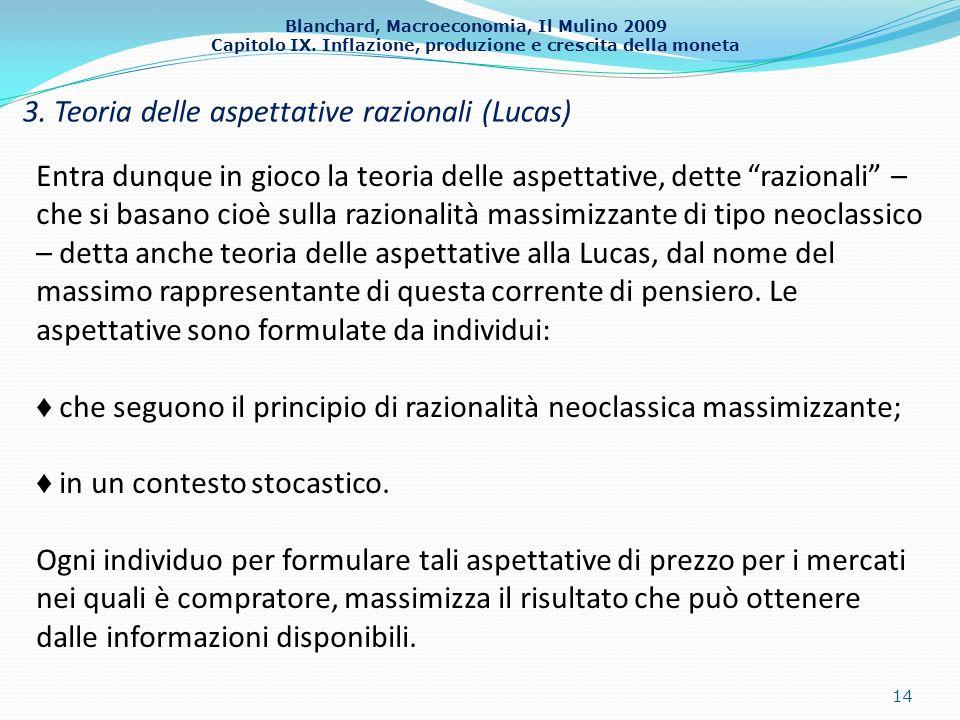 3. Teoria delle aspettative razionali (Lucas)