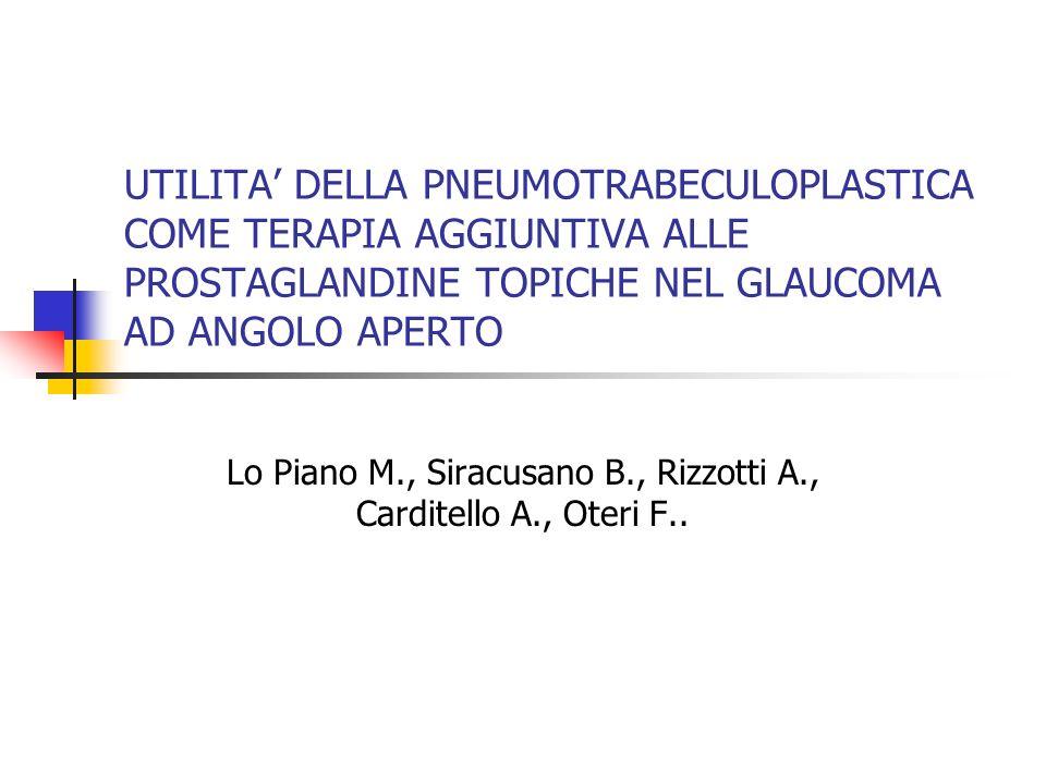 Lo Piano M., Siracusano B., Rizzotti A., Carditello A., Oteri F..