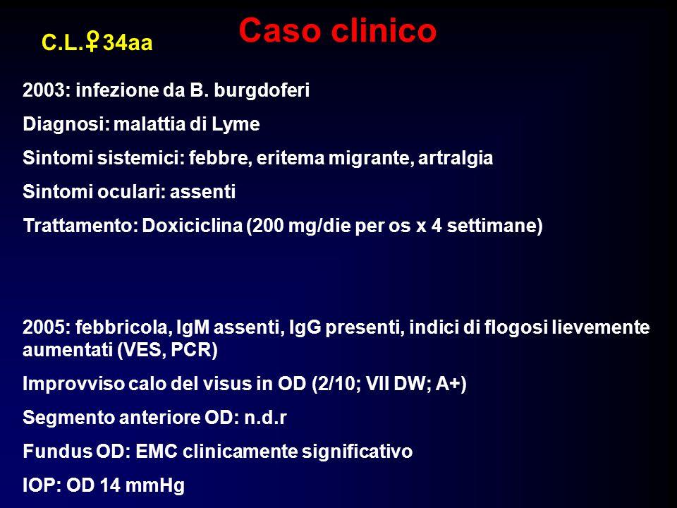 Caso clinico o C.L. 34aa + 2003: infezione da B. burgdoferi