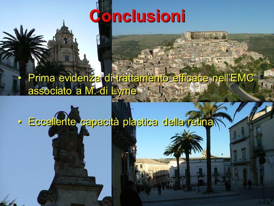 Conclusioni Prima evidenza di trattamento efficace nell'EMC associato a M.