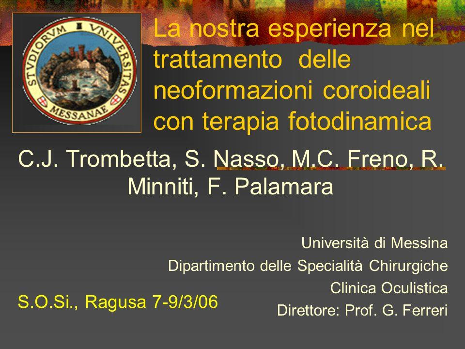 C.J. Trombetta, S. Nasso, M.C. Freno, R. Minniti, F. Palamara
