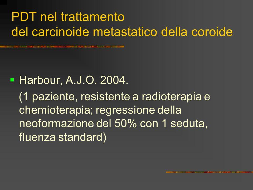 PDT nel trattamento del carcinoide metastatico della coroide