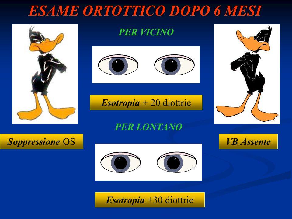 ESAME ORTOTTICO DOPO 6 MESI