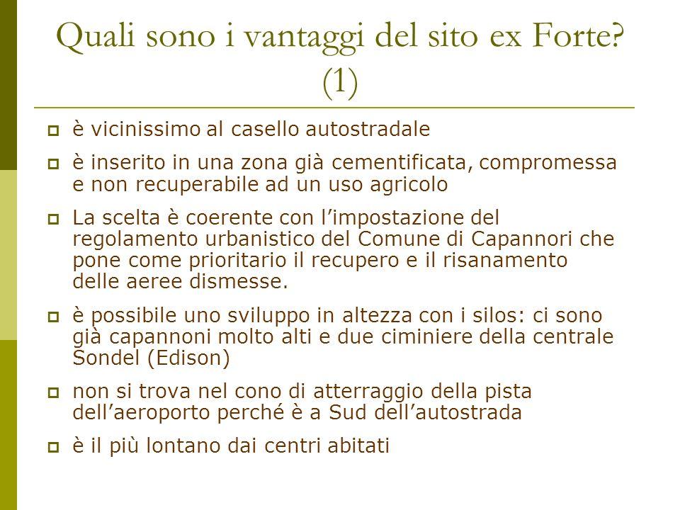 Quali sono i vantaggi del sito ex Forte (1)