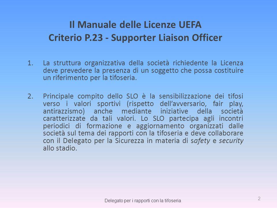 Il Manuale delle Licenze UEFA