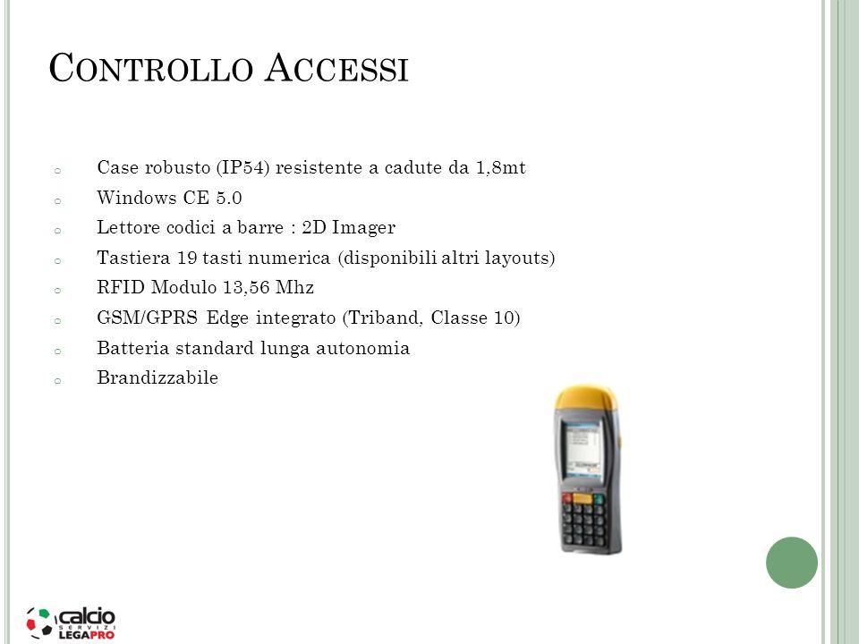 Controllo Accessi Case robusto (IP54) resistente a cadute da 1,8mt