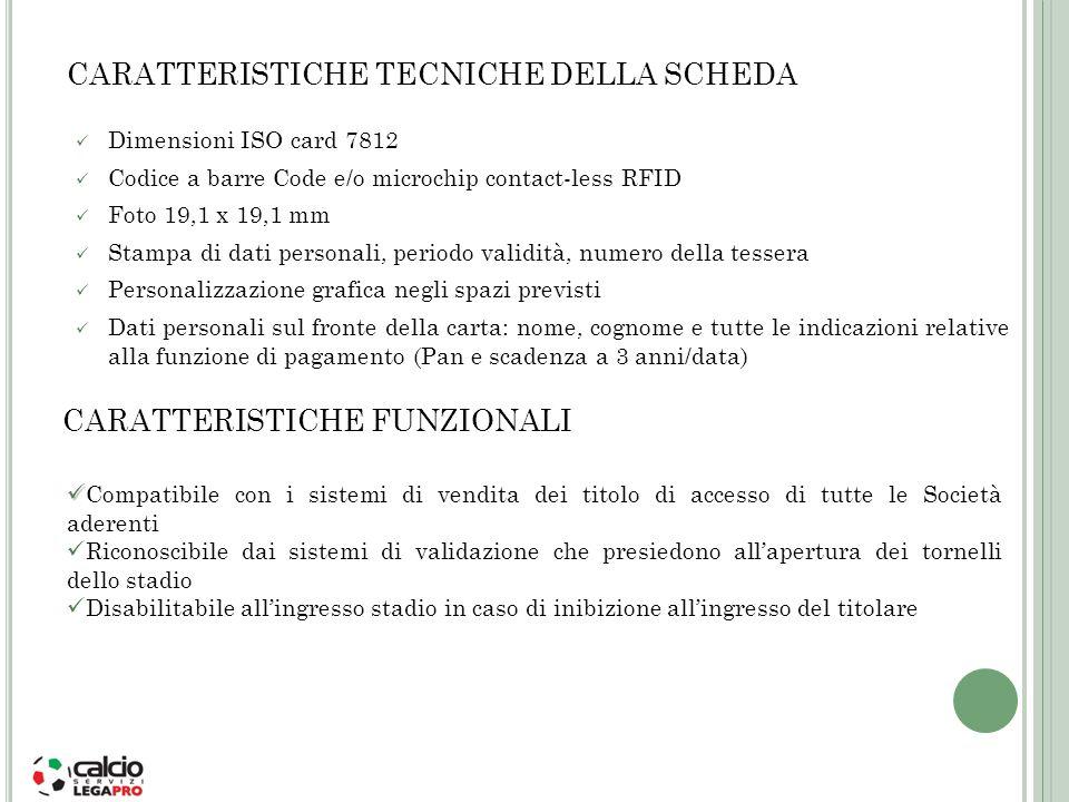 CARATTERISTICHE TECNICHE DELLA SCHEDA