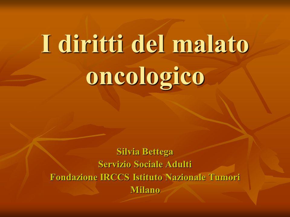 I diritti del malato oncologico