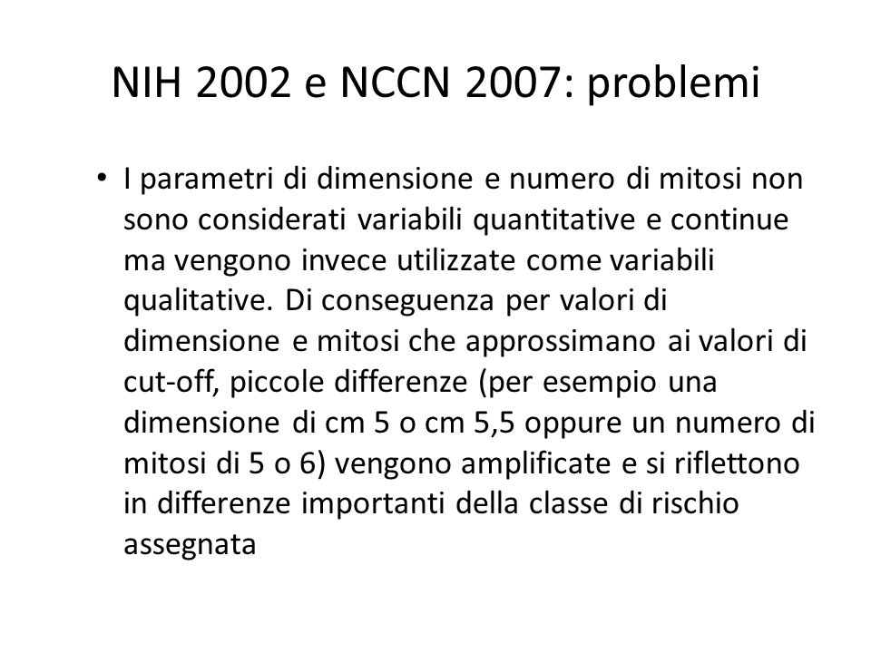 03/03/10NIH 2002 e NCCN 2007: problemi.
