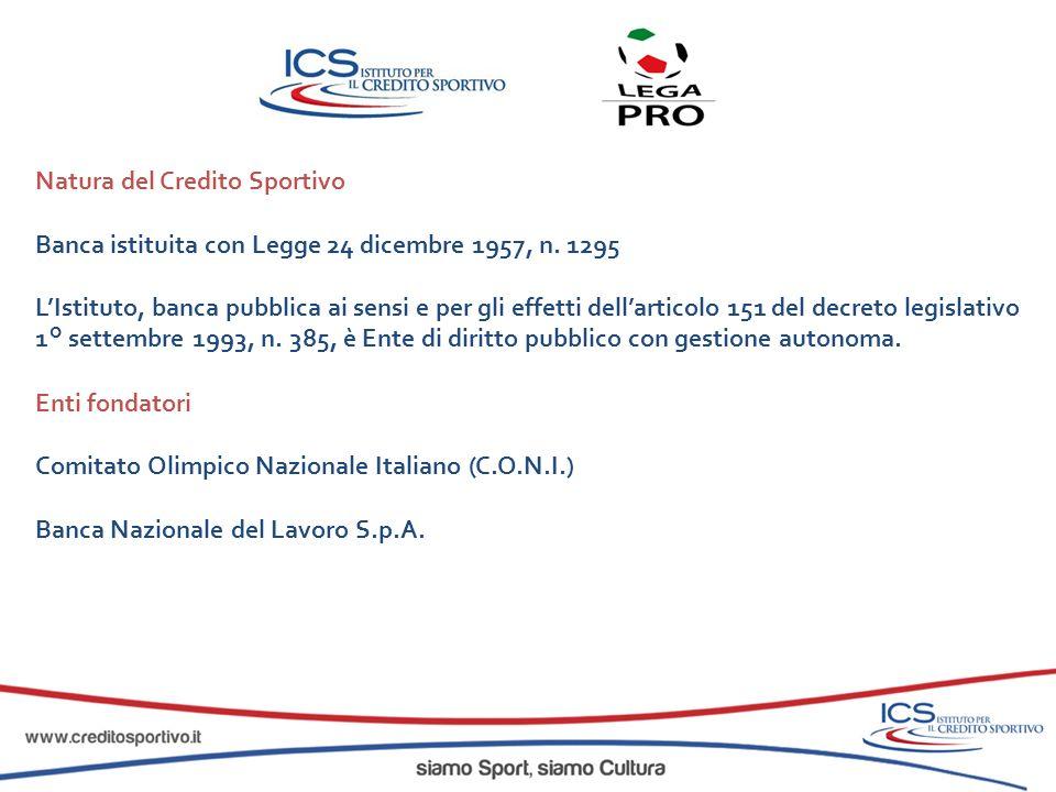 Natura del Credito Sportivo