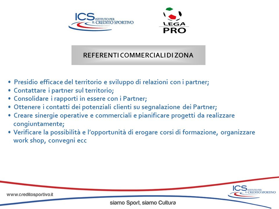 REFERENTI COMMERCIALI DI ZONA