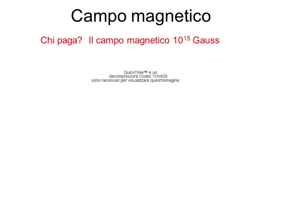 Campo magnetico Chi paga Il campo magnetico 1015 Gauss
