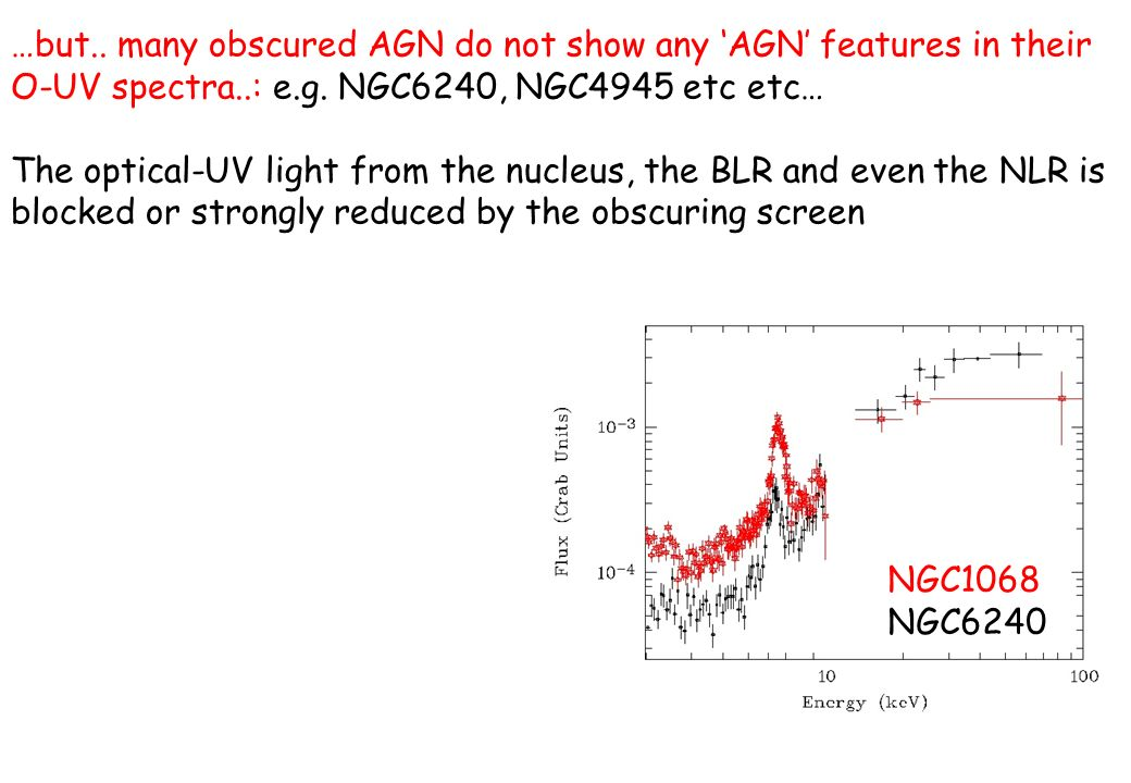 …but.. many obscured AGN do not show any 'AGN' features in their