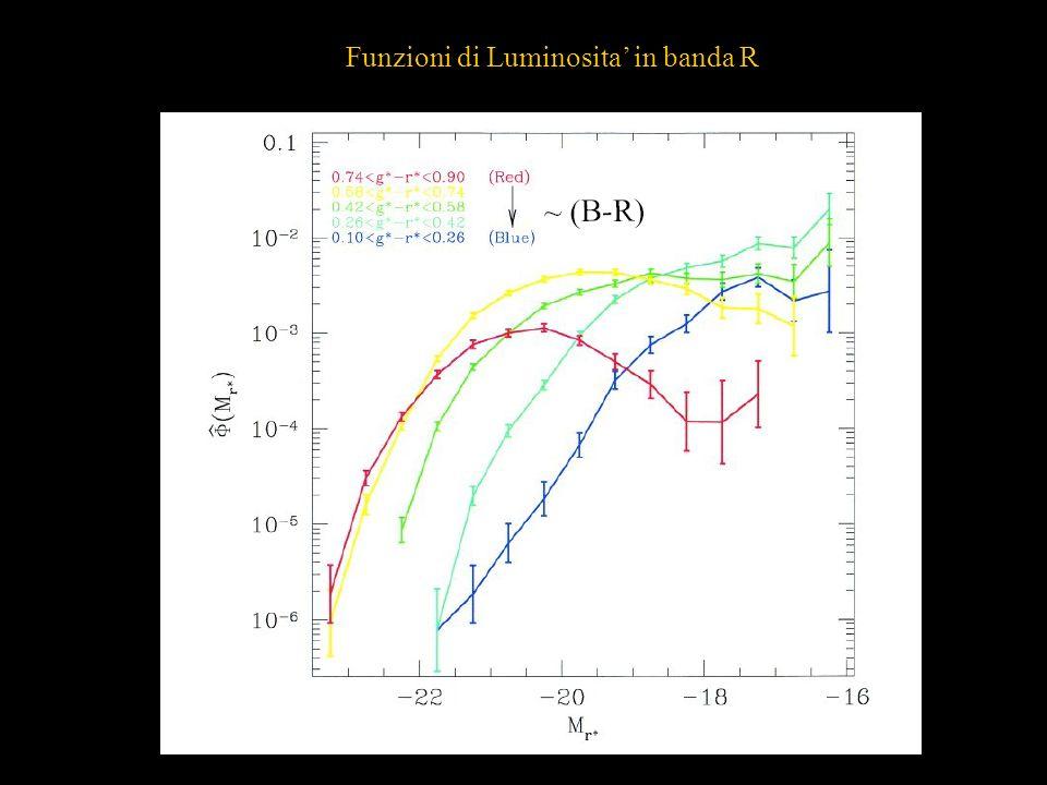 Funzioni di Luminosita' in banda R