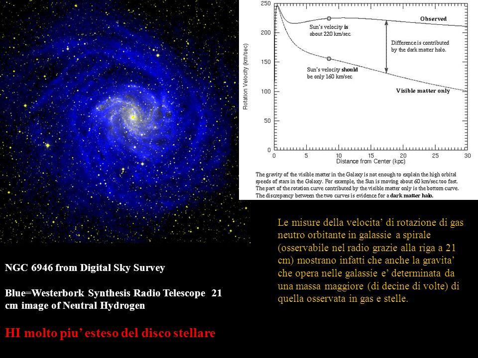 HI molto piu' esteso del disco stellare