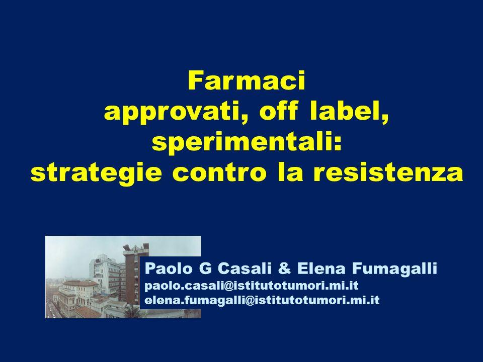 approvati, off label, sperimentali: strategie contro la resistenza