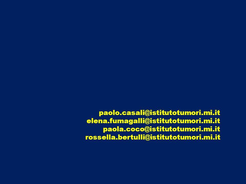 paolo.casali@istitutotumori.mi.it elena.fumagalli@istitutotumori.mi.it. paola.coco@istitutotumori.mi.it.