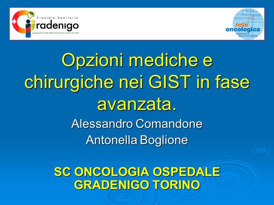 Opzioni mediche e chirurgiche nei GIST in fase avanzata.