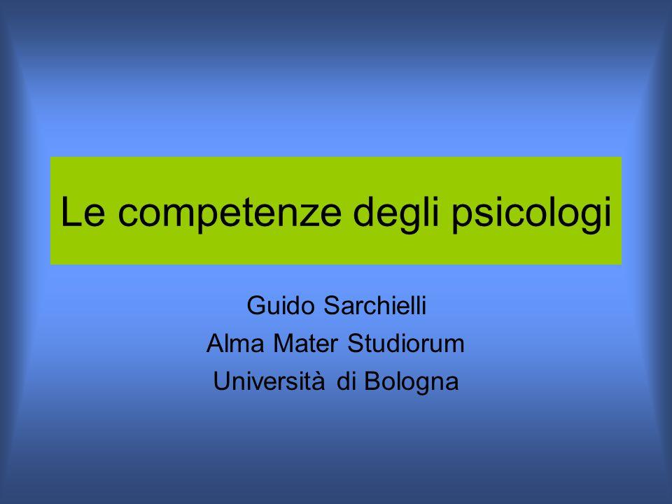 Le competenze degli psicologi
