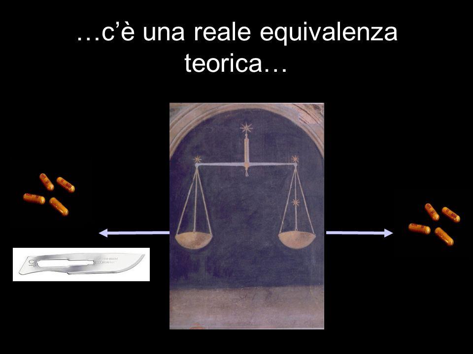 …c'è una reale equivalenza teorica…