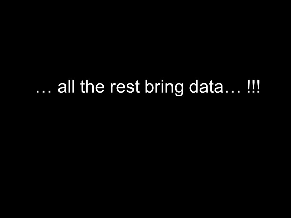 … all the rest bring data… !!!