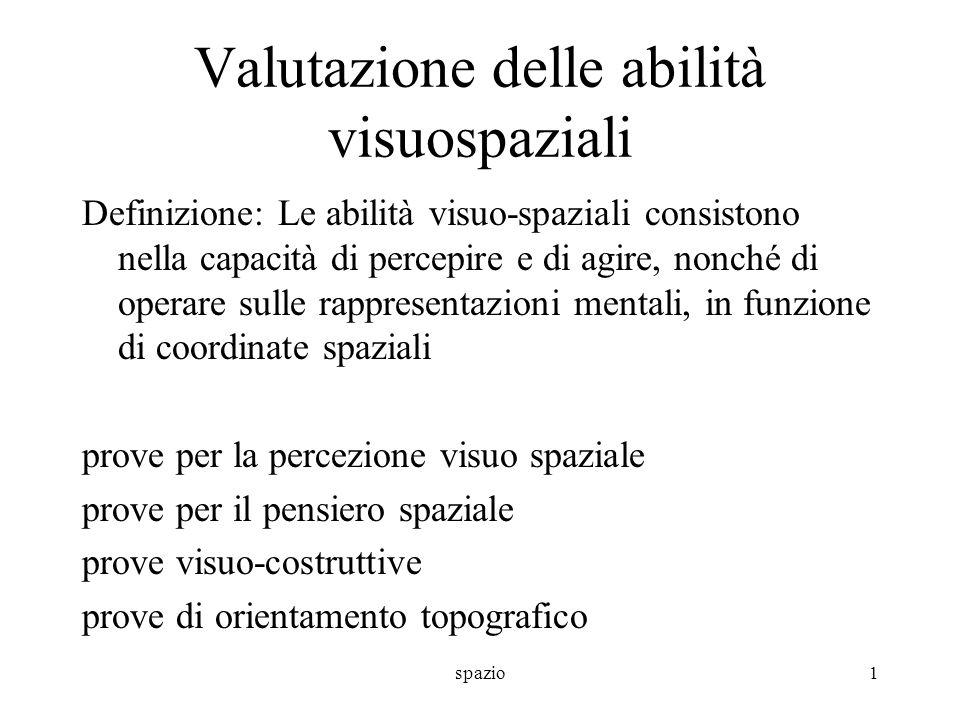 Valutazione delle abilità visuospaziali